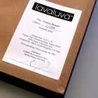 Lavaluva Certificate of Authenticity